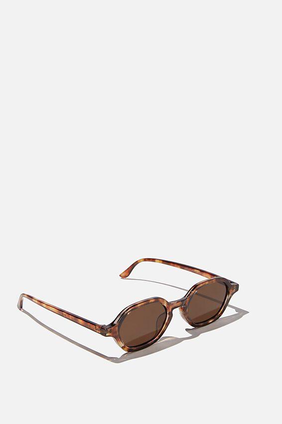 Holly Hexi Sunglasses, AMBER TORT