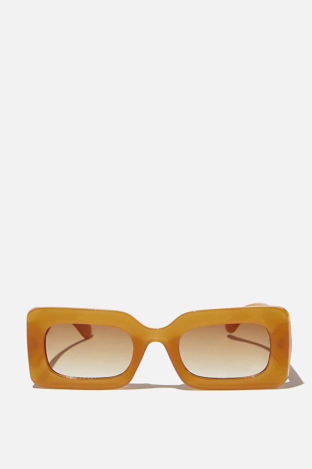 Gigi Square Sunglasses, HONEY