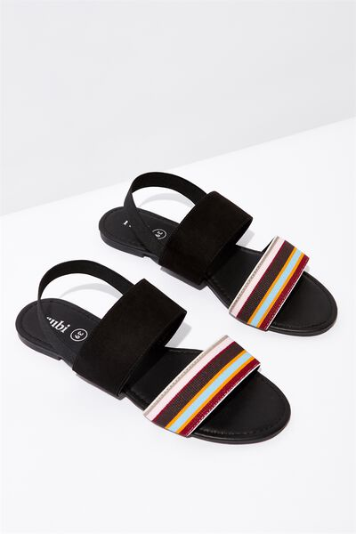 Everyday Alyssa Slingback Sandal, BLACK MULTI STRIPE