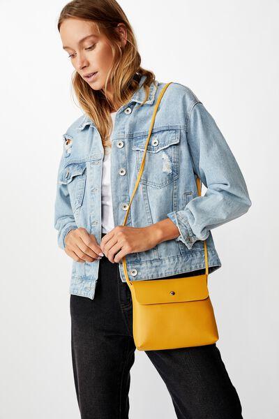 Felicity Cross Body Bag, MUSTARD