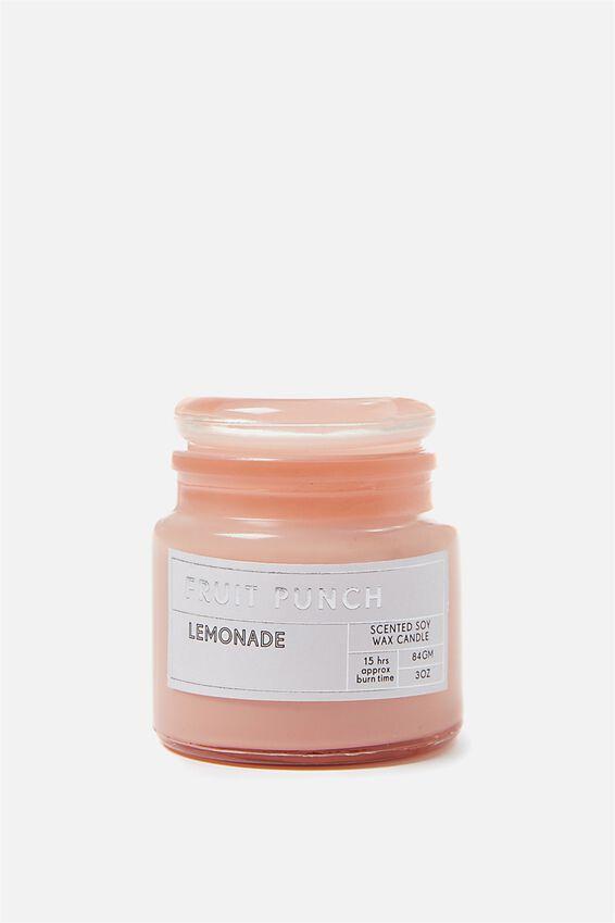 Small Glass Candle, BRICK DUST/LEMONAID