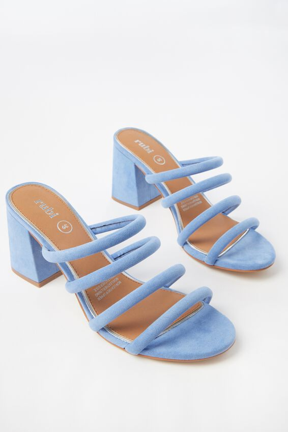 Conga Tubed Mule Heel, CORNFLOWER BLUE