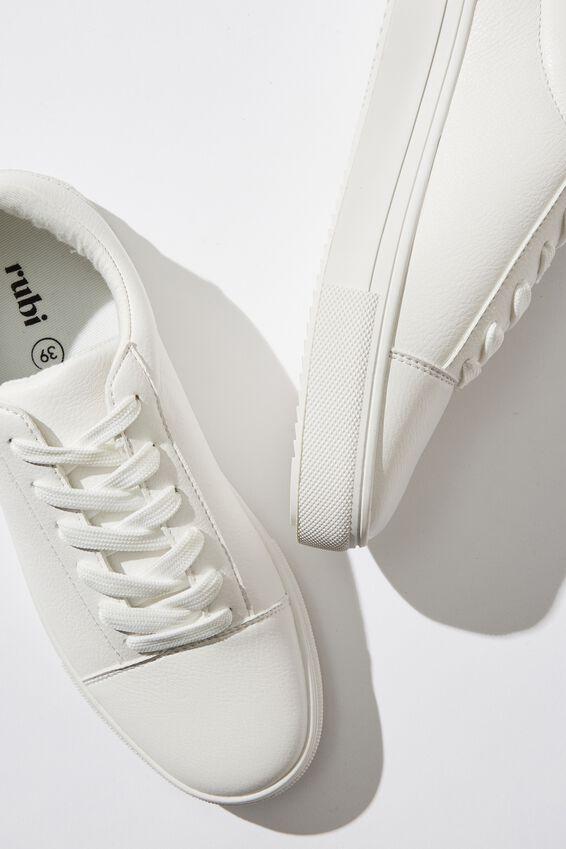 Aidan Retro Sneaker, WHITE