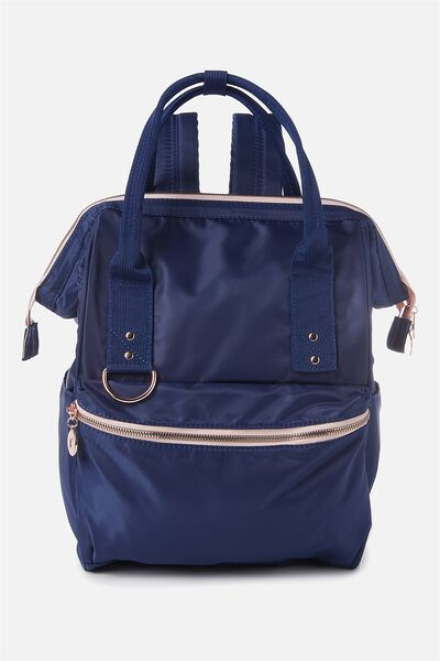 Blaze Backpack, DARK BLUE W/ROSE GOLD