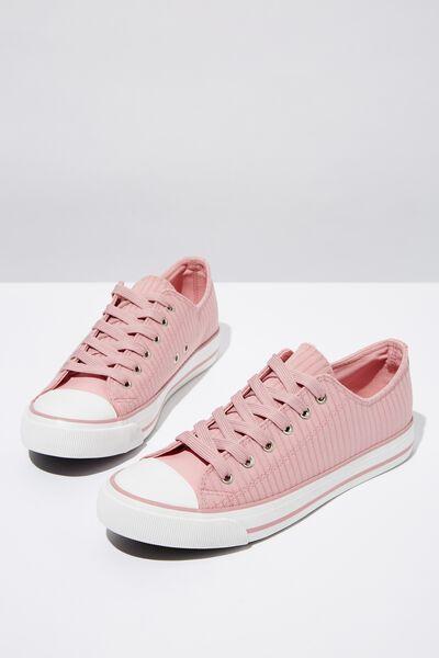Jodi Low Rise Sneaker 1, DUSTY ROSE STRIPE
