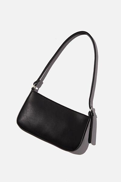 Lexi Underarm Bag, BLACK