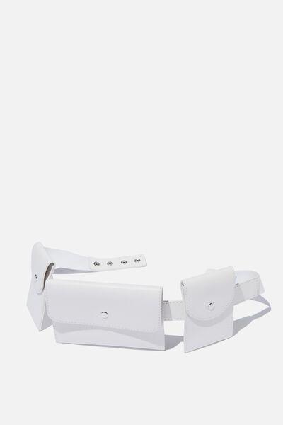 Utility Belt Bag, WHITE