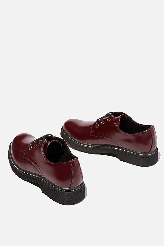 Andy Oxford Shoe, OXBLOOD PATENT PU