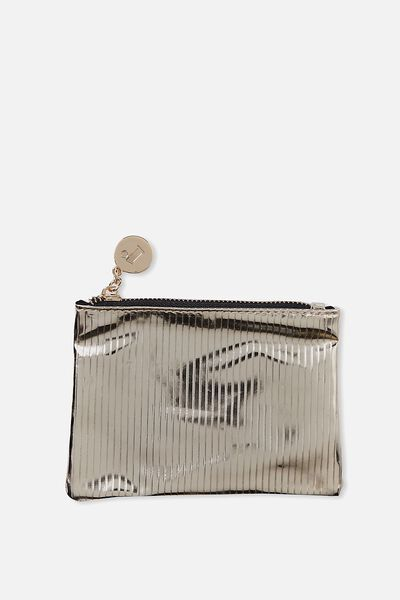 Meadow Coin Purse, GOLD STRIPE/BLACK