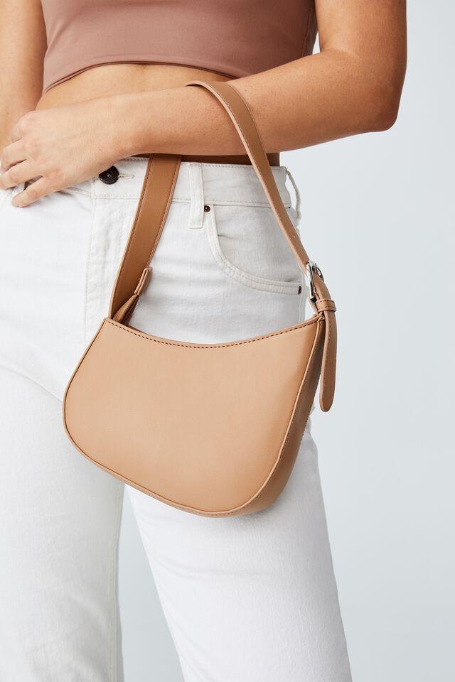 Angular Shoulder Bag, SOFT CAMEL