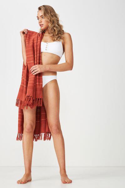 Shades Of Summer Lightweight Towel, RUST