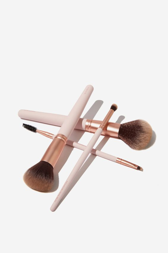 Dual Ended Eyebrow Brush, PINK/ROSE GOLD