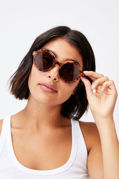 Rylee Round Sunglasses, SEPIA