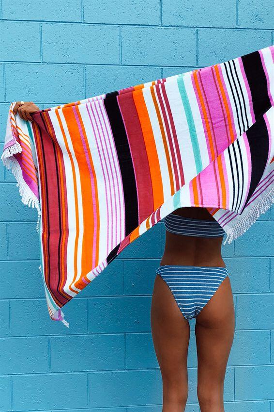 Love A Classic Towel, PINK MULTI STRIPE