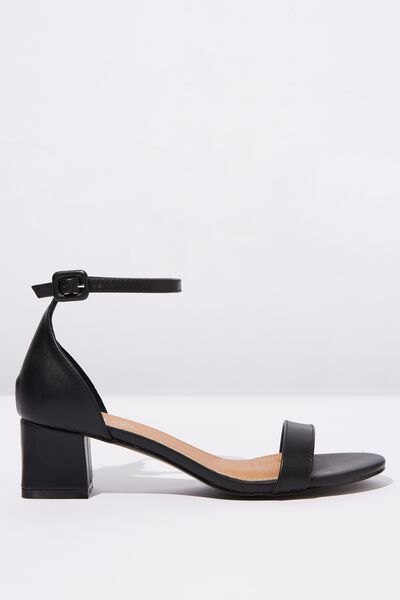 Lola Low Block Heel, BLACK SMOOTH