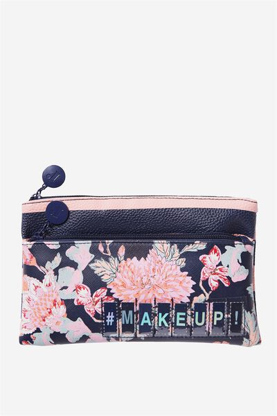 Personalised Dual Zip Cosmetic Case, FLORAL