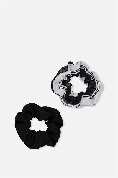 Scrunchies, BLACK/WHITE
