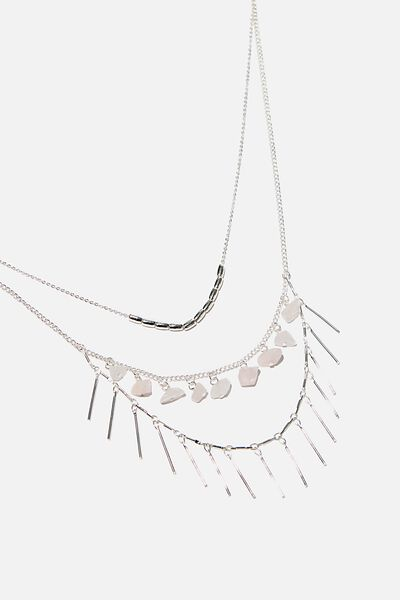 Endless Love Trinkets Necklace, SILVER/PINK