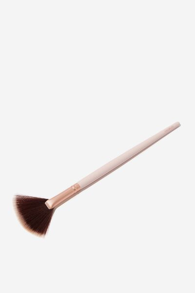 Fan Brush, PINK/ROSE GOLD