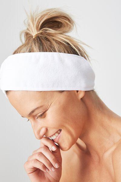 Body Home Spa   Hair Band, WHITE