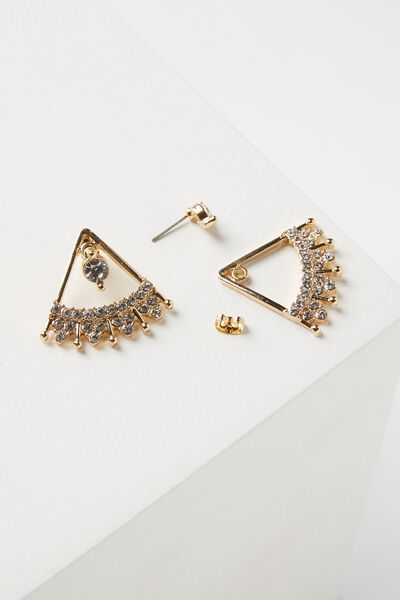 Cleopatra Diamante Earring, GOLD