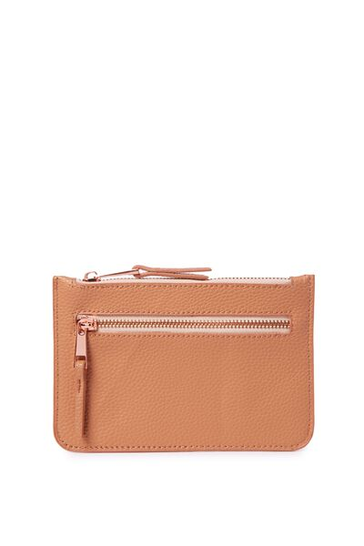 Queens Clutch Purse, PEACH NOUGET