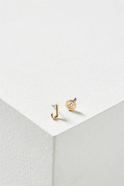 Alpha Stud Earring, GOLD - J