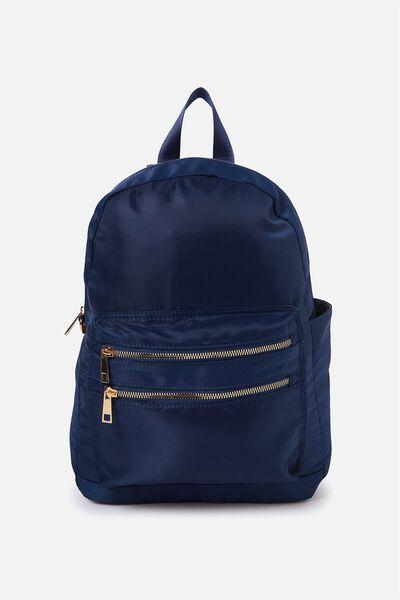 Explorer Backpack, NAVY W GOLD
