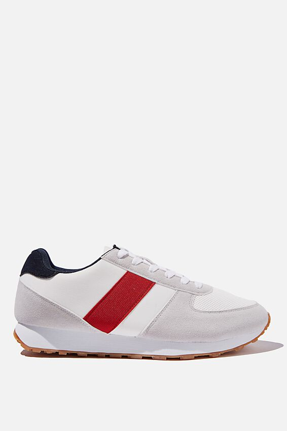 Olympia Heritage Trainer, WHITE RED NAVY