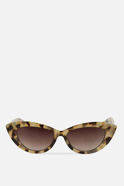 Delilah Cat Eye Sunglasses, MILKY TORT