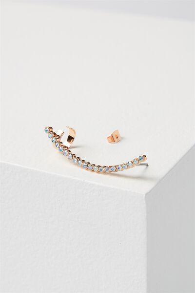 Louise Diamante Ear Climber, ROSE GOLD