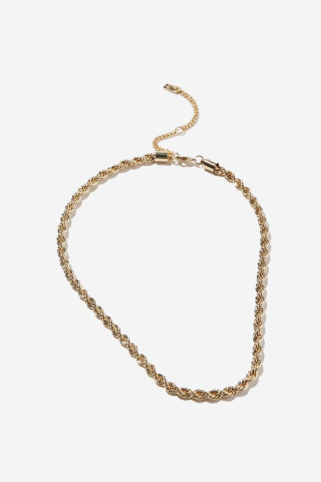 Premium Forever Necklace, GOLD PLATED ROPE