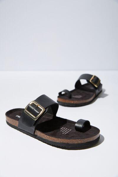 Rex Minimal Toe Loop, BLACK SMOOTH PU