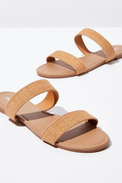 Everyday Double Thin Strap Slide, SAND WOVEN