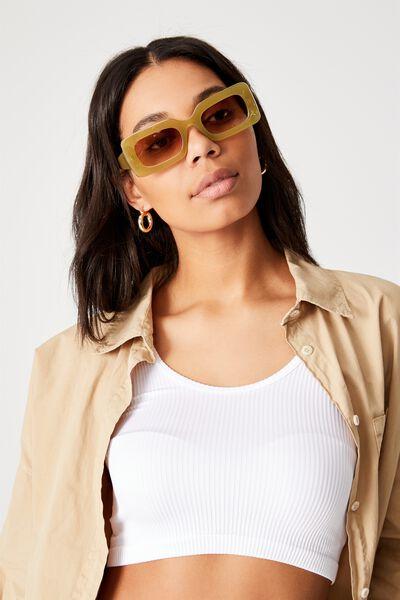 Gigi Square Sunglasses, SOFT GREEN