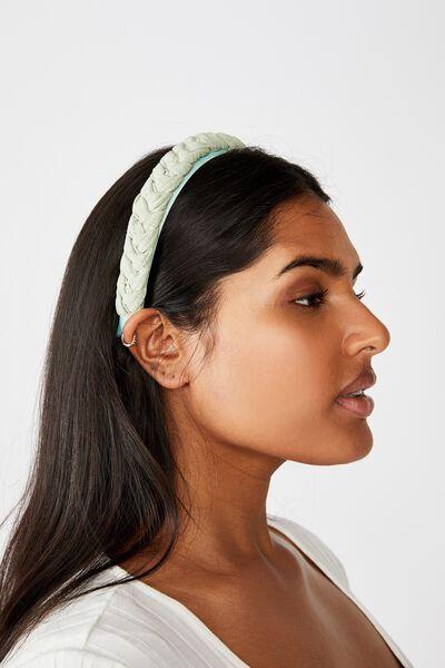 Maddi Plait Headband, JADE