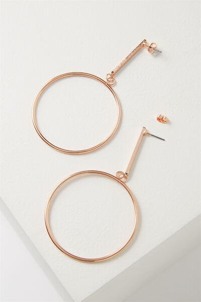 Core Hoop Earring, ROSE GOLD