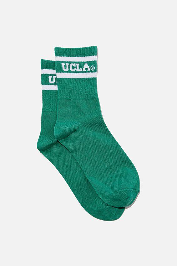 Fine Rib Sports Sock, LCN UCLA LOGO
