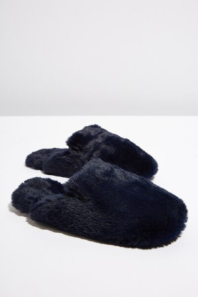 Poppy Slipper Scuff, RICH NAVY