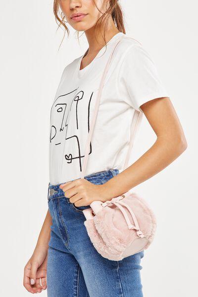 Mini Mya Drawstring Bag, PALE PINK
