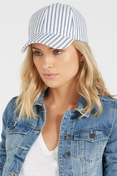Nancy Cap, BLUE SHIRT STRIPE