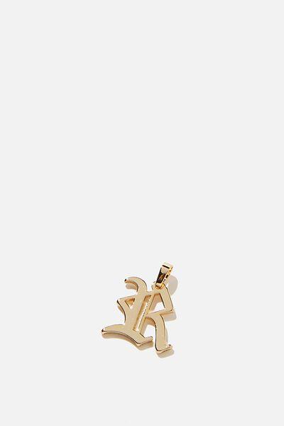 Premium Charm, GOLD PLATED R