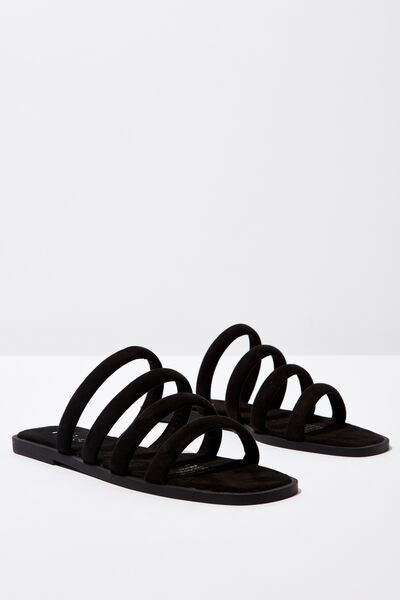 Chole Strappy Sandal, BLACK MICRO