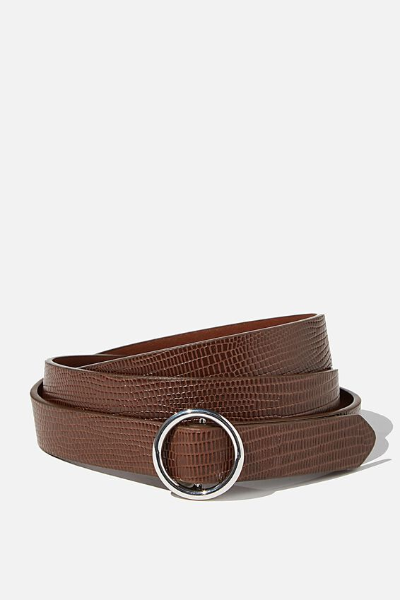 Round About Buckle Belt, CHOC MULTI BUCKLE