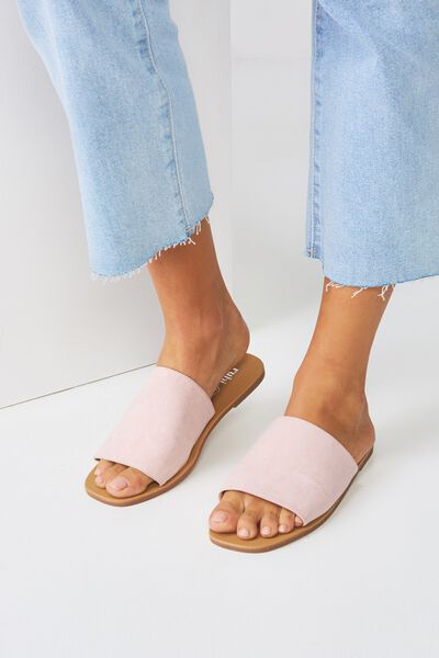 Cleo Minimal Slide, DUSTY ROSE MICRO