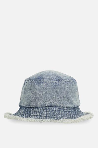 Bella Bucket Hat, MID DENIM