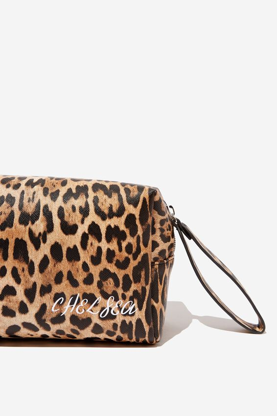 Personalized Marlee Cosmetic Case, NATURAL LEOPARD