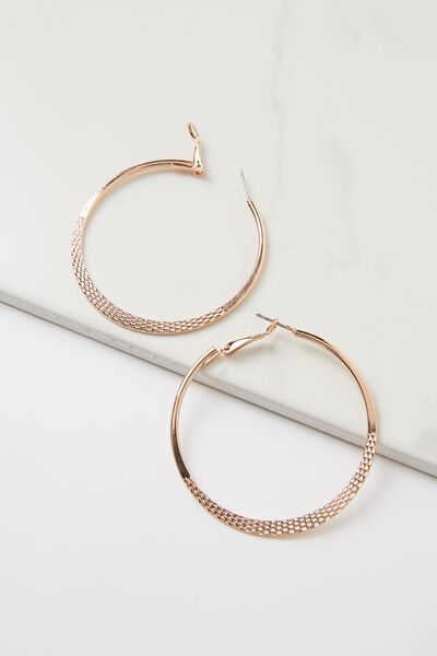 Nat Core Hoop Earring, ROSE GOLD