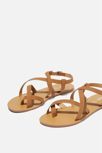 Tyra Multi Strap Sandal, TAN NUBUCK
