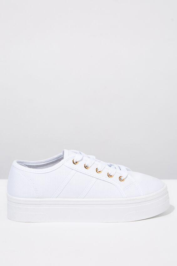 Willow Platform Sneaker, BRIGHT WHITE